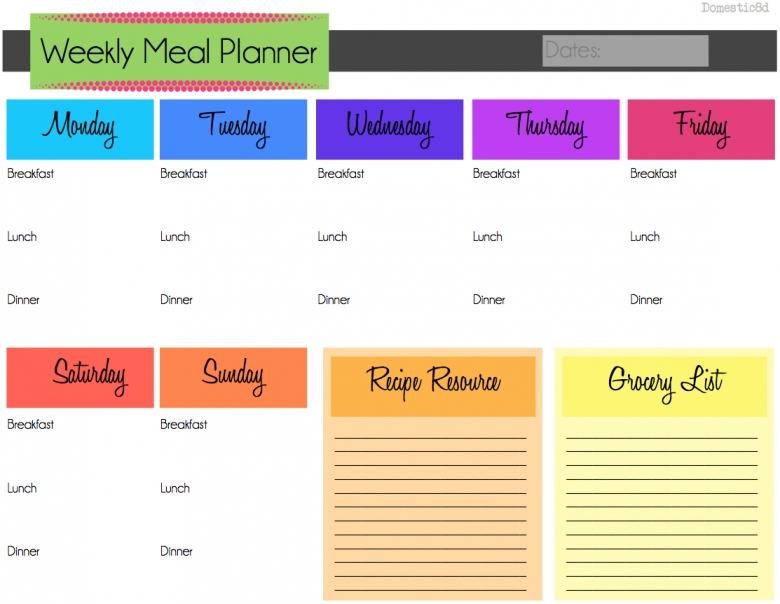 Meal Planning Template 2017 Best Business Template  xjb