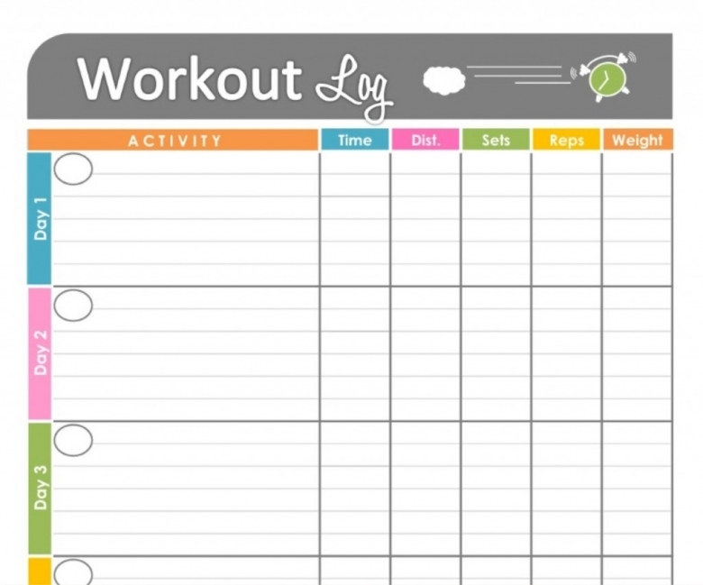 Workout Calendar Template Blank Printable Free Calendar