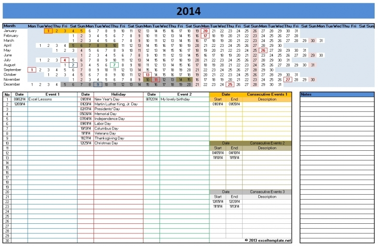 2014 Calendar Templates Microsoft And Open Office Templates3abry
