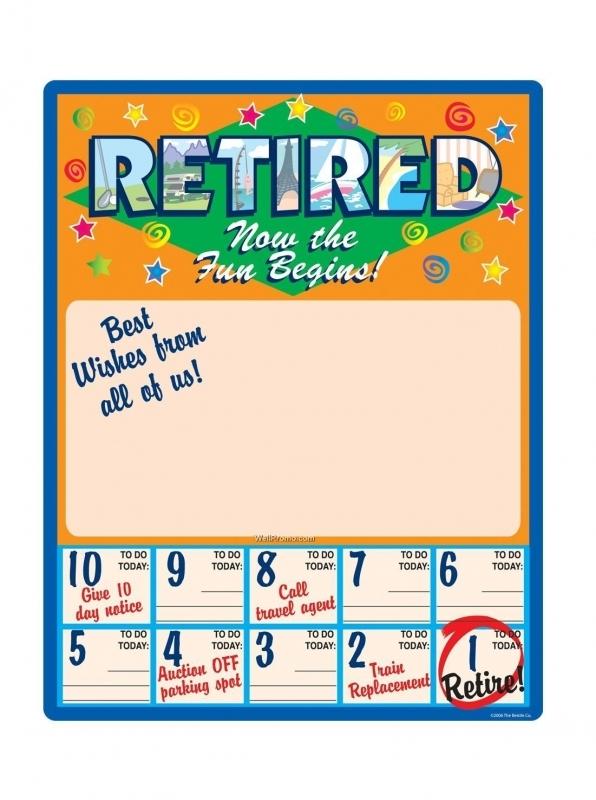 Retirement Countdown Printable Calendar