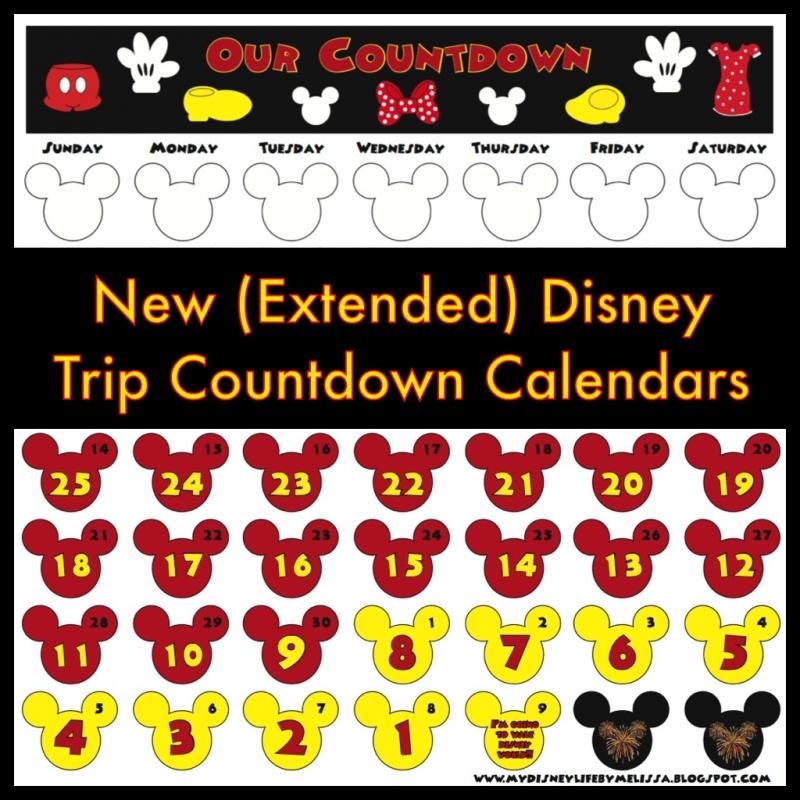 Disney Countdown Calendar Printable Calendar Template  xjb