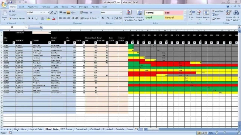 Excel Graphical Production Planning And Control Planner  xjb