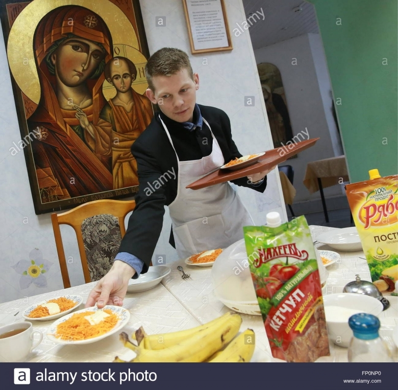Ivanovo Russia 16th Mar 2017 Lunchtime At St Alexis Stock3abry