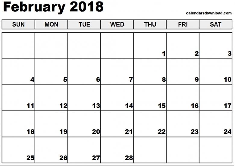 February 2018 Calendar3abry