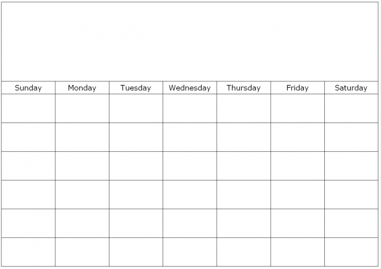 Monthly Calendar Print Out : Monthly calendar to print and fill out free