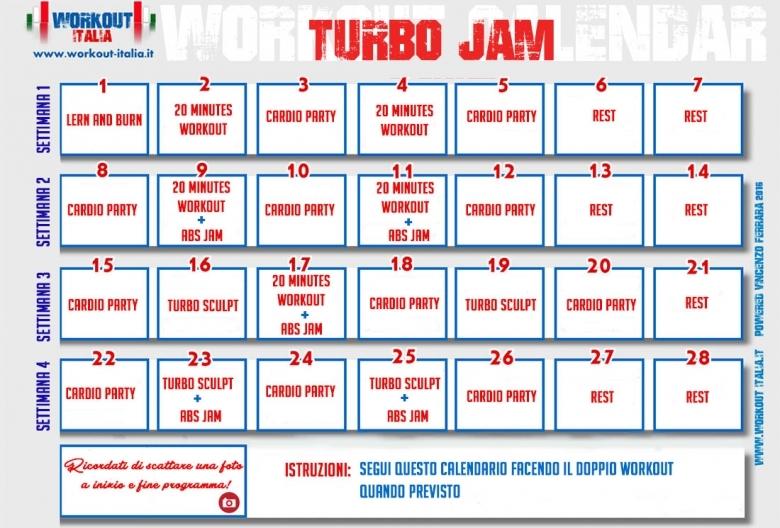Turbo Jam Workout Calendar Eoua Blog  xjb