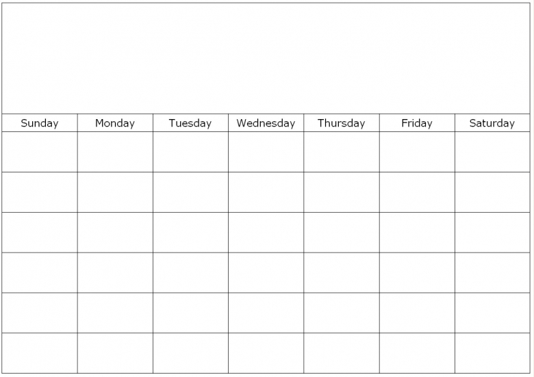 Blank Calendar To Fill In : To fill in blank calendar free template
