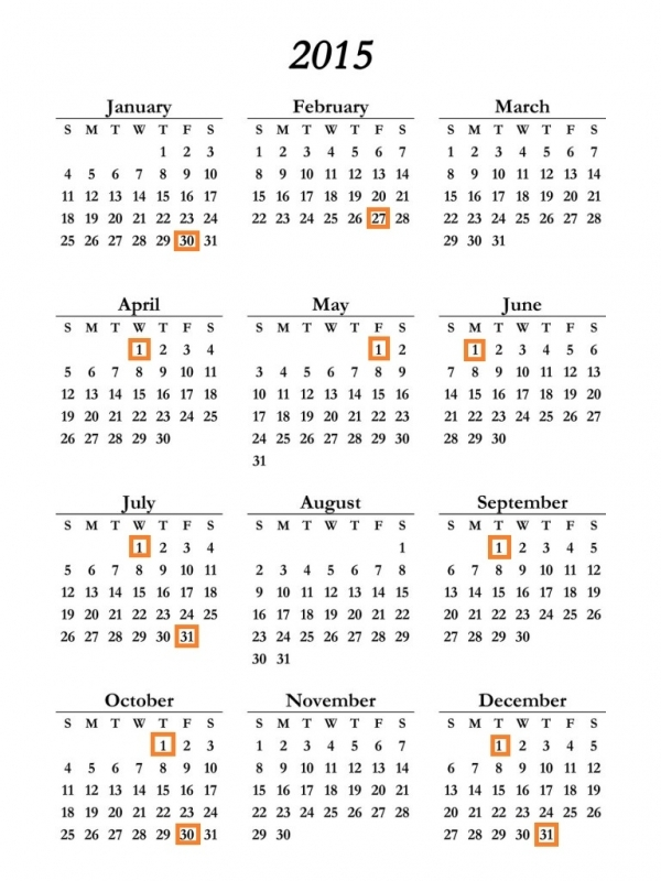 Calendar Schedule Social Security Retirement Deposit