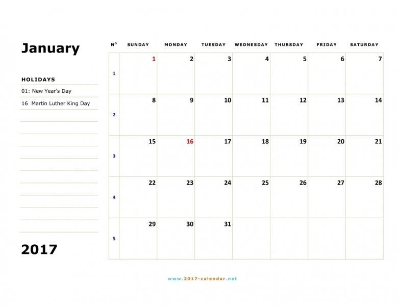 Printable 2017 Calendar 89uj