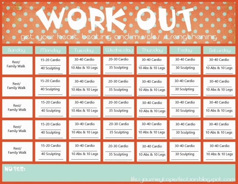 Workout Calendar Free Printable Google Search Work It3abry