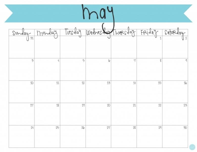 May 2015 Calendar Free Printable Live Craft Eat  xjb