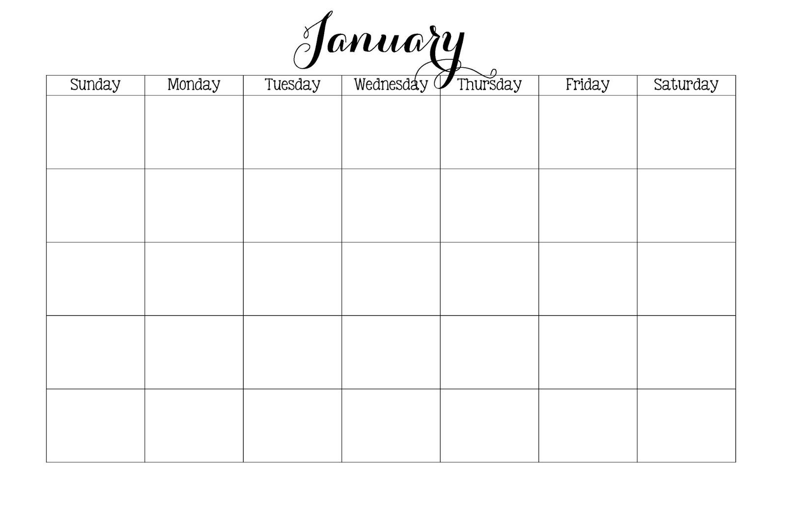 11×17 Calendar Template Printable Calendar Template 20173abry