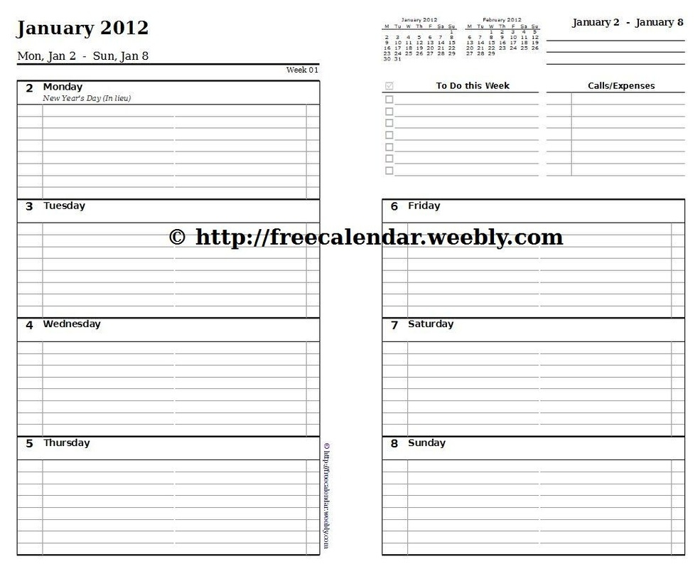 25 Images Of Free Printable Planner Refill Template Kpopped  Xjb
