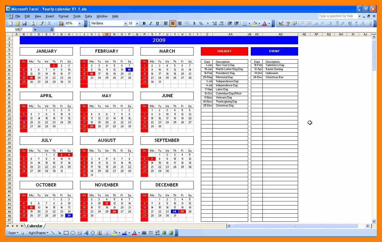 7 Excel Calendars Informal Letter