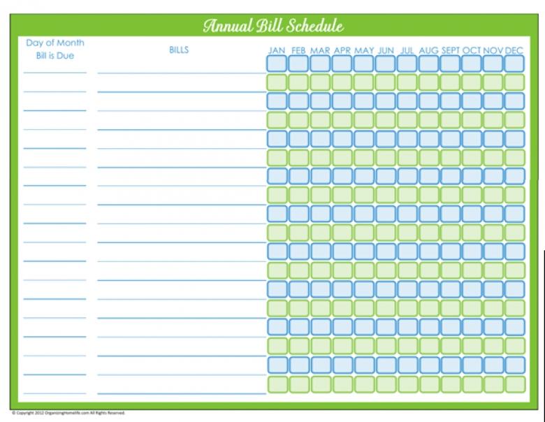 Bill Pay Calendar Printable :-Free Calendar Template