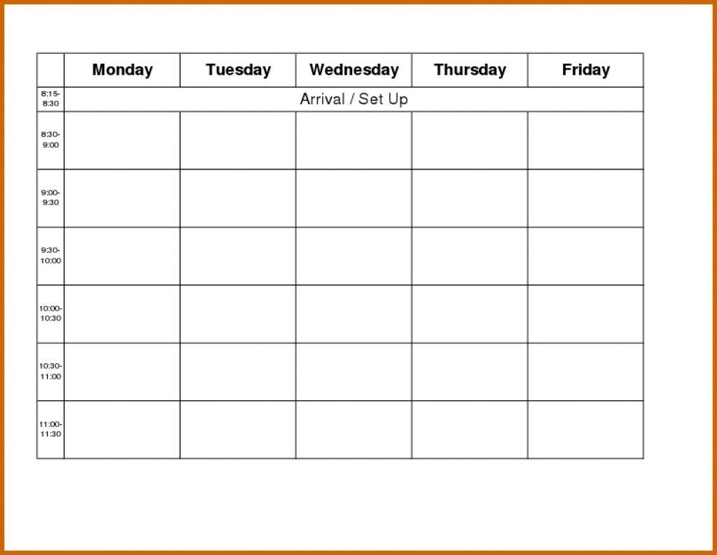 Blank Calendar Monday Through Friday Printable Calendar3abry