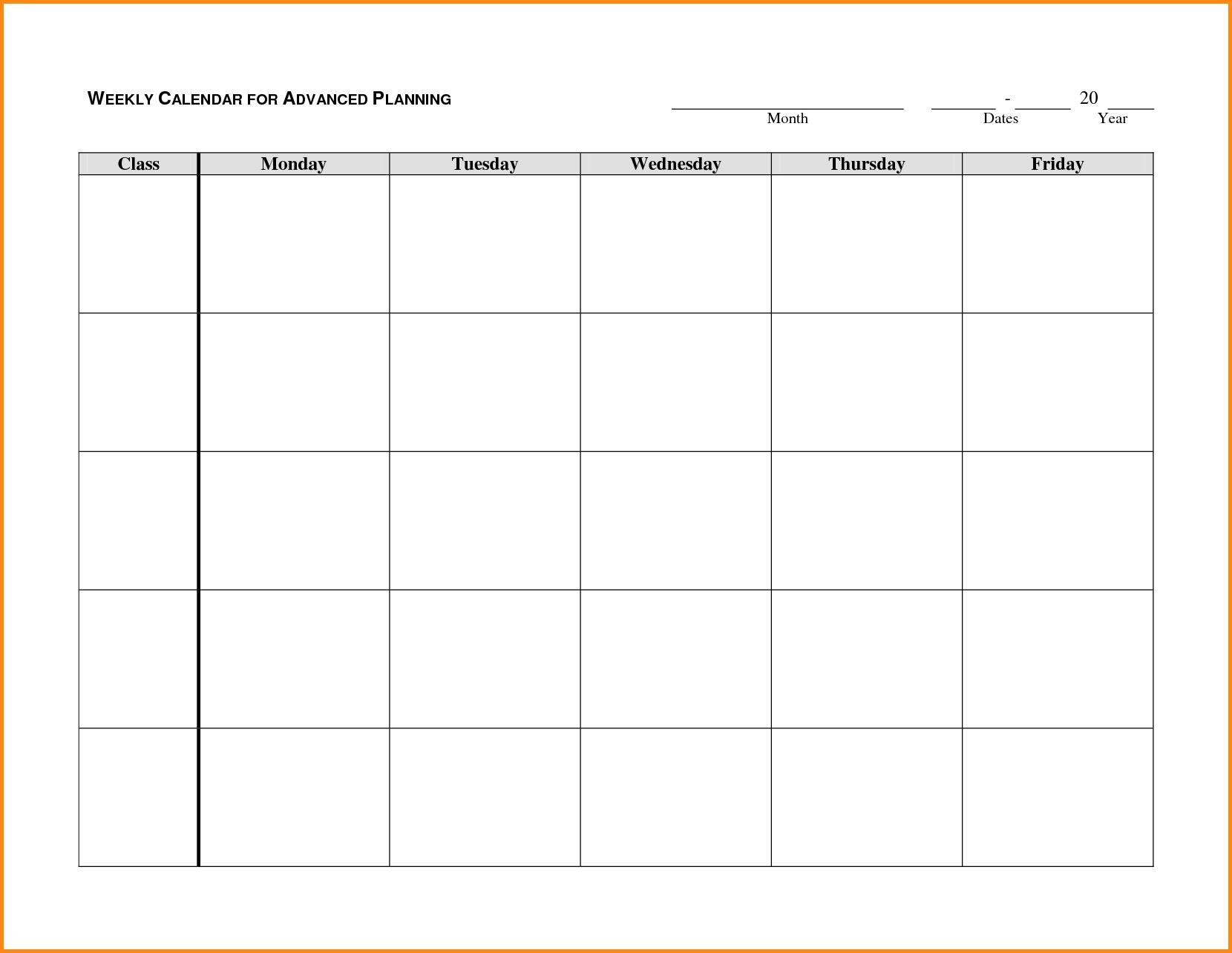 Blank Calendar Monday Through Friday Printable Online Calendar3abry