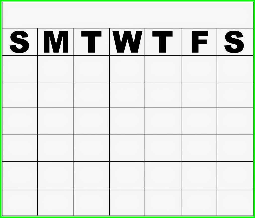 Blank Calendar Template Monday Through Friday Printable Online3abry