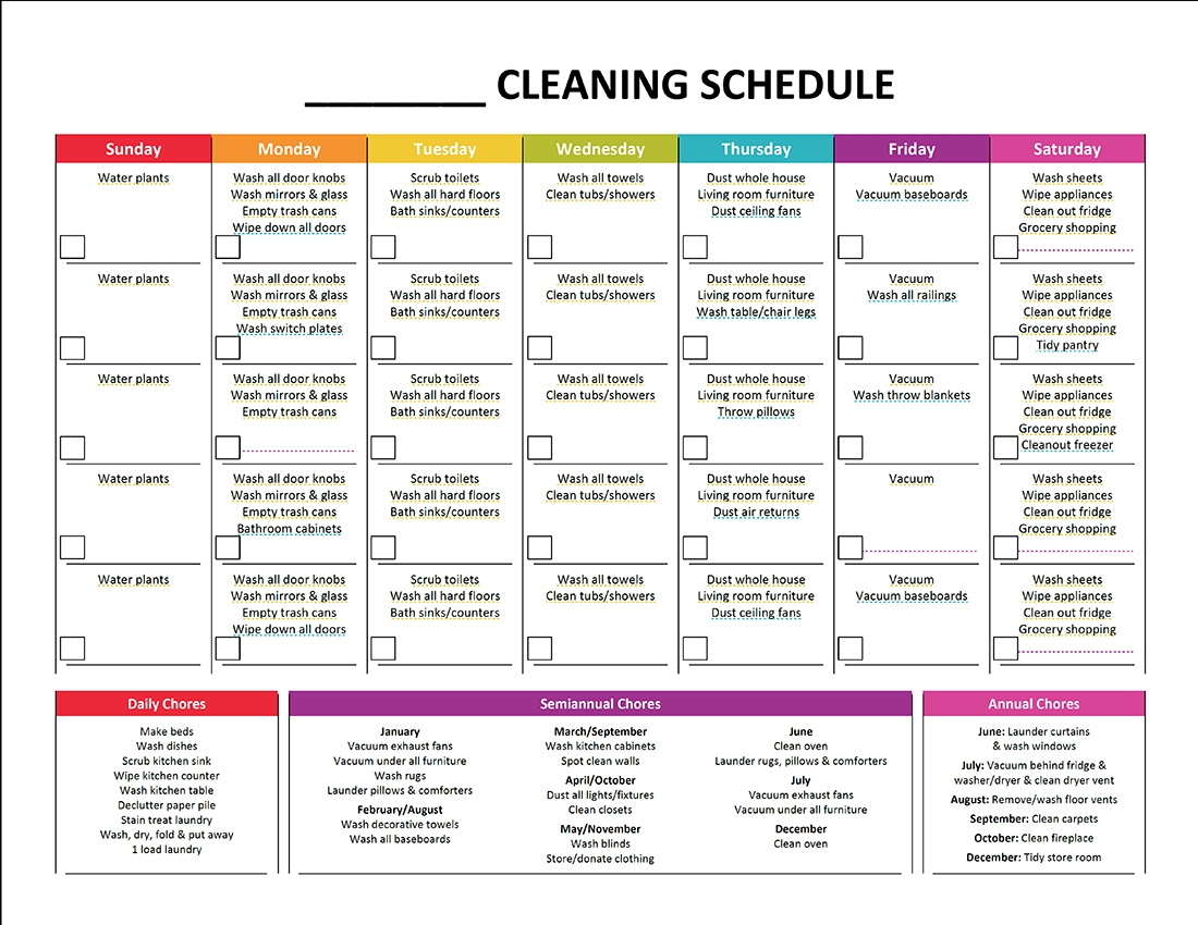 Complete Housekeeping Printable Set Monthly Cleaning Schedule3abry