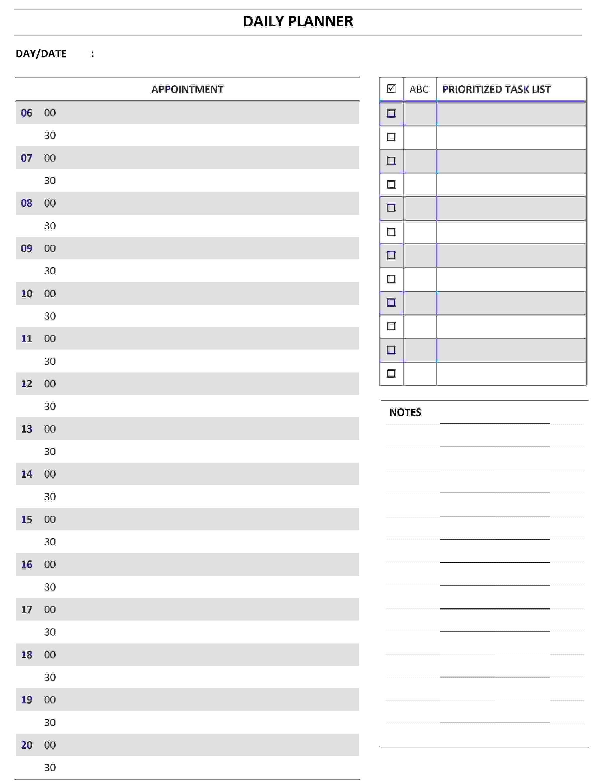 Daily Calendar Templates Printable Online Calendar3abry
