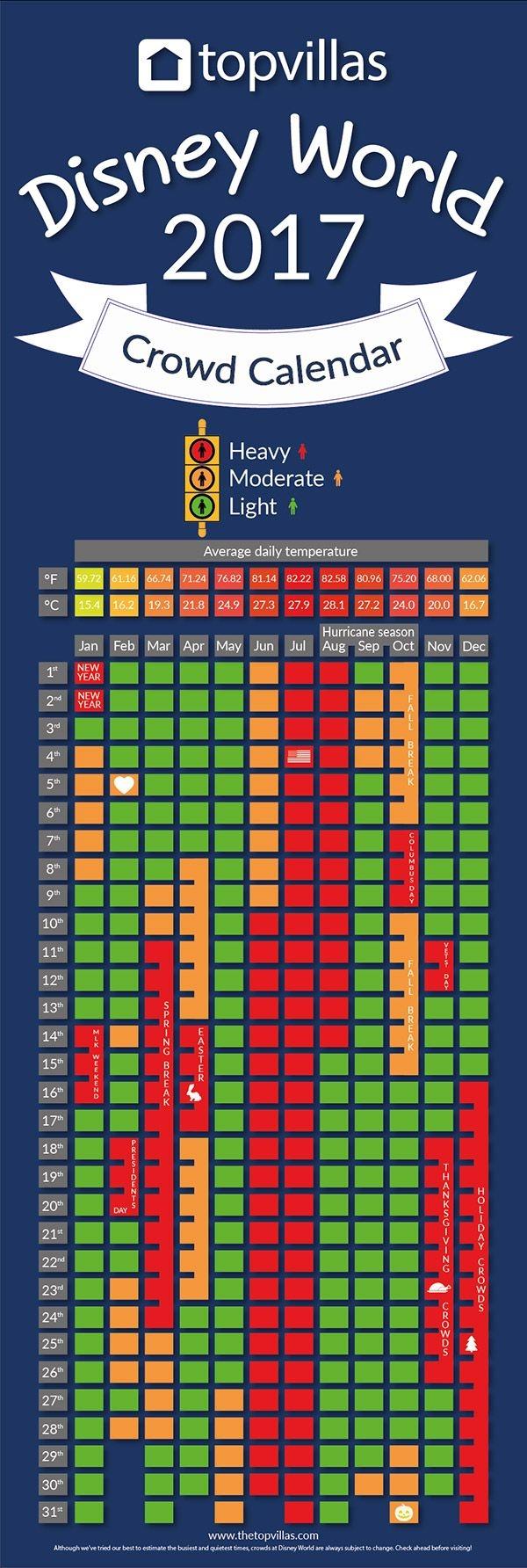 Disneyland Crowd Tracker Calendar Calendar Template 20173abry