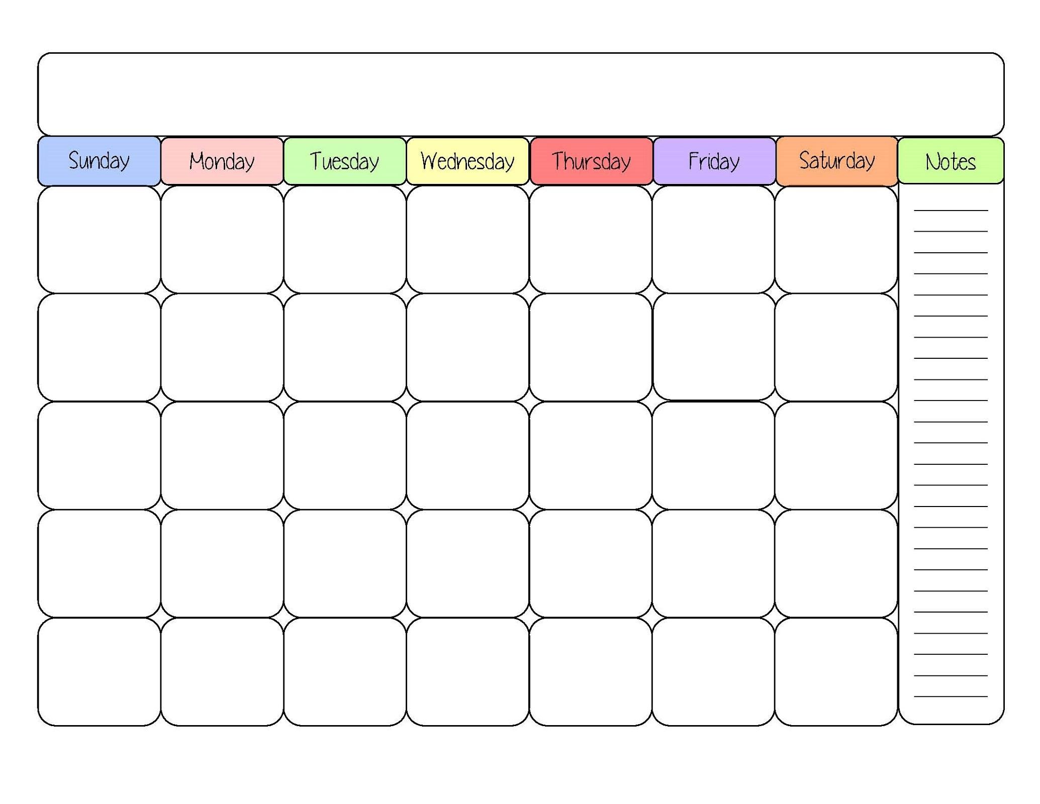Free Printable Calendar Templates Activity Shelter3abry
