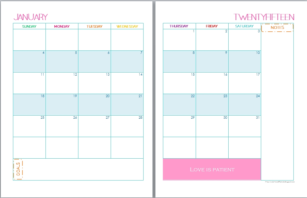 Free Printable Monthly Calendar Calendar Template 2017