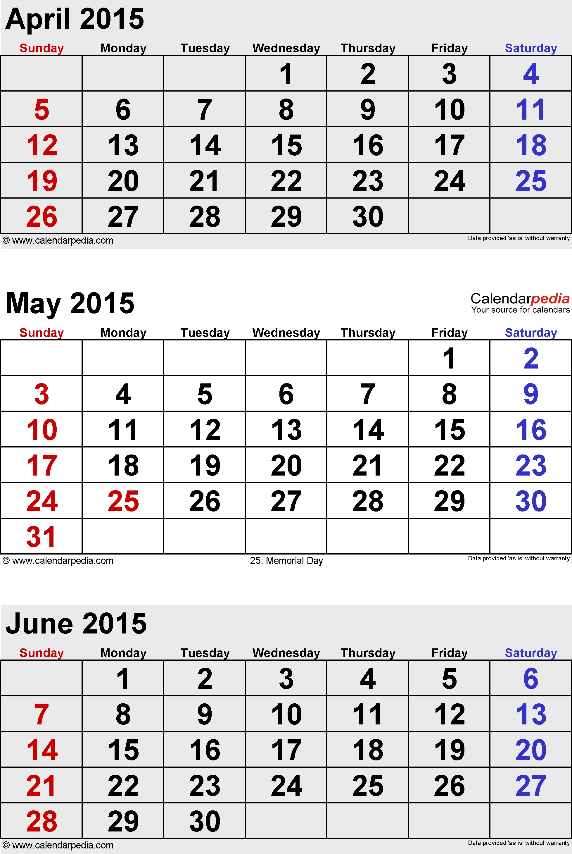 June 2015 Calendars For Word Excel Pdf 89uj