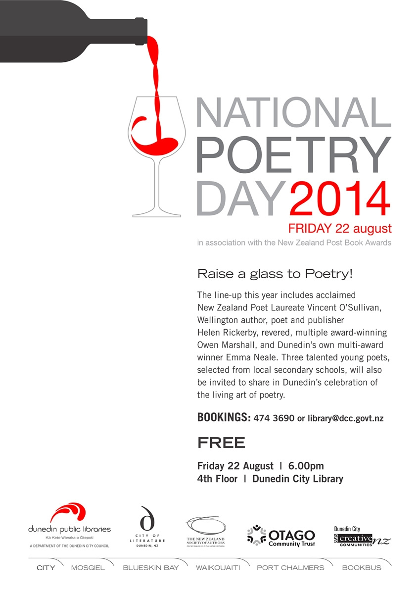 National Poetry Day In Dunedin Another Great List Of Poets