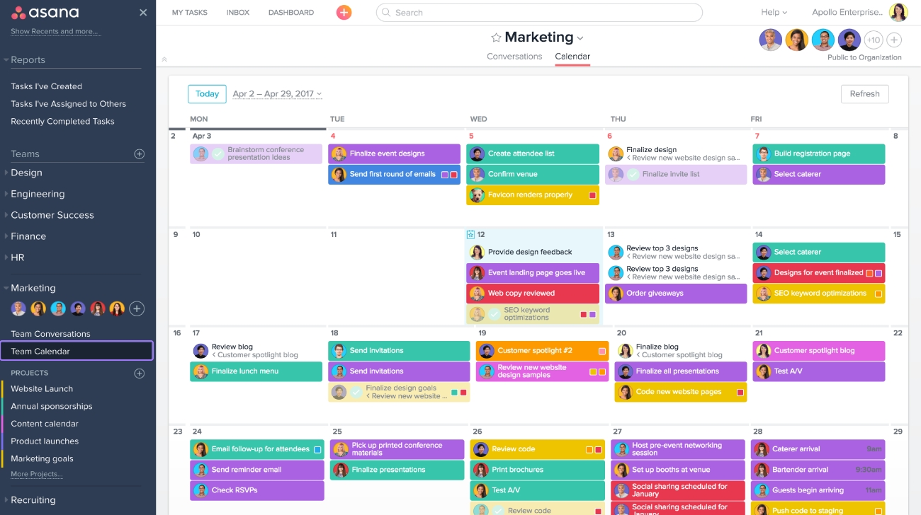 Planning With Asana Calendar Product Guide Asana3abry