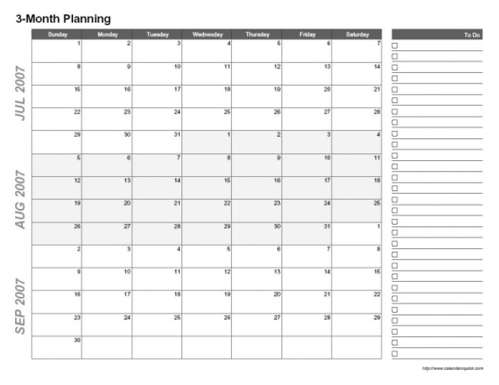 Printable Three Month Calendar Printable Calendar Templates 2018  Xjb
