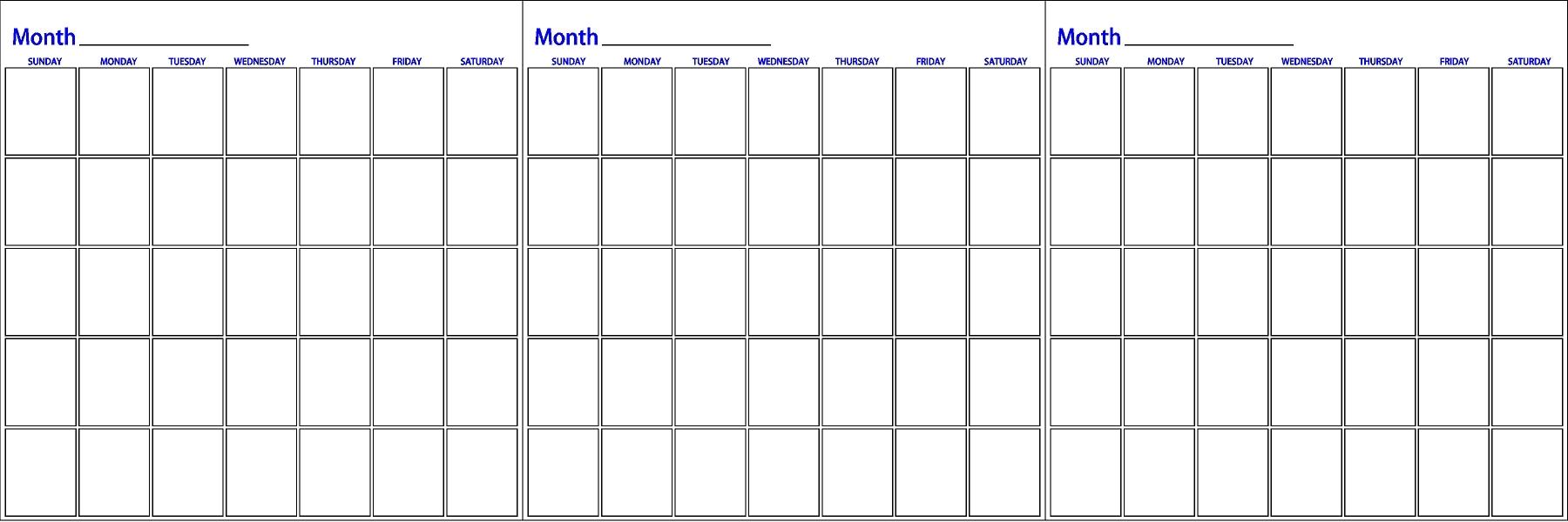 Three Month Calendar Insssrenterprisesco  Xjb