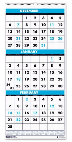 Calendar 3 Months Per Page