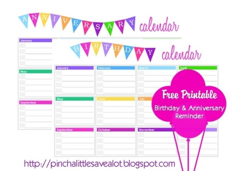Yearly Birthday Calendar Weekly Calendar Template