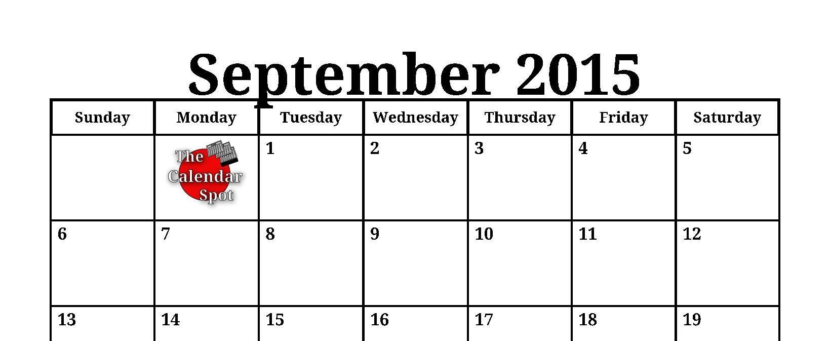 10 Best Images Of September 2015 Calendar Template Pdf September3abry