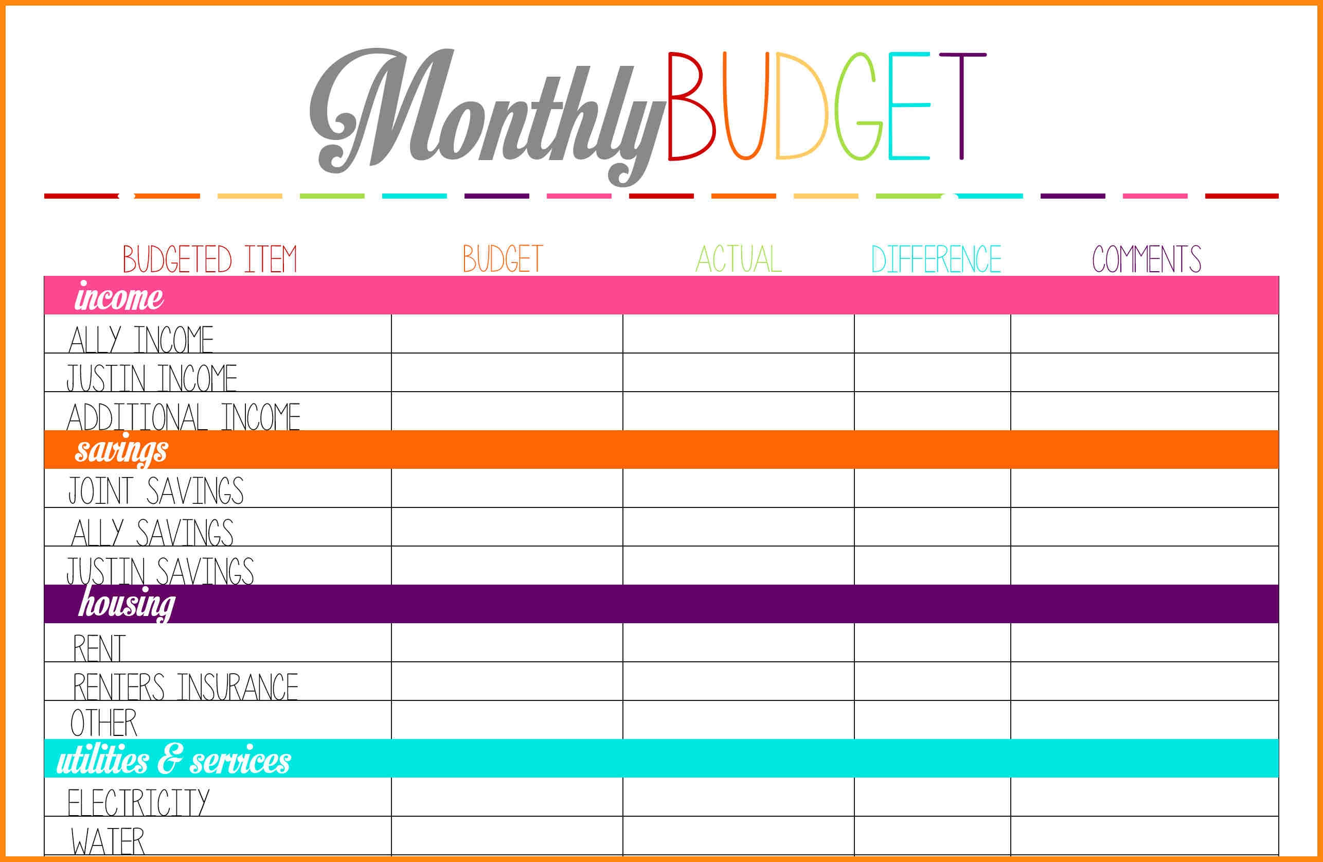 11 Printable Budget Calendar Nurse Resumed3abry