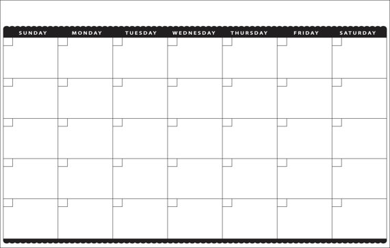 11 X 17 Blank Printable Calendars Blank Calendar Design 2017