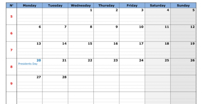11x17 Calendar Template Vegan Designer