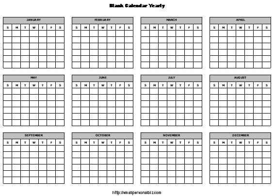 12 Month Blank Calendar 12 Month Calendar Template Calendar