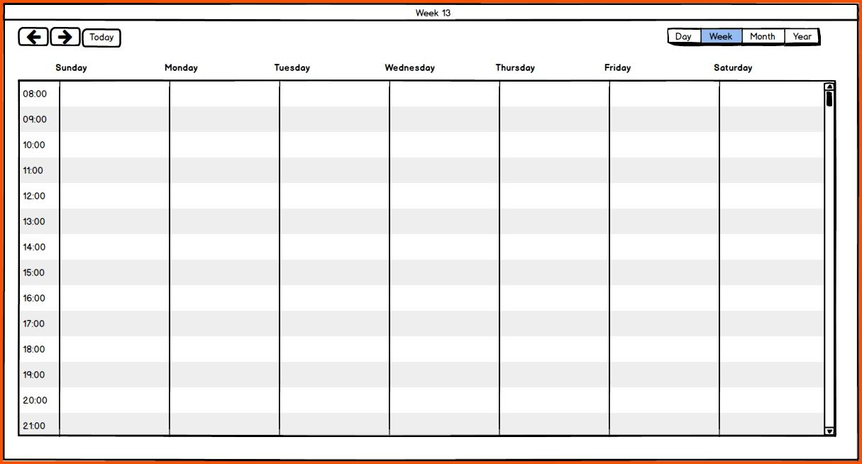 14 One Week Calendar Survey Template Words3abry