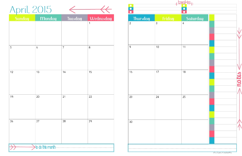 2 Page Monthly Planner Template Yun56co