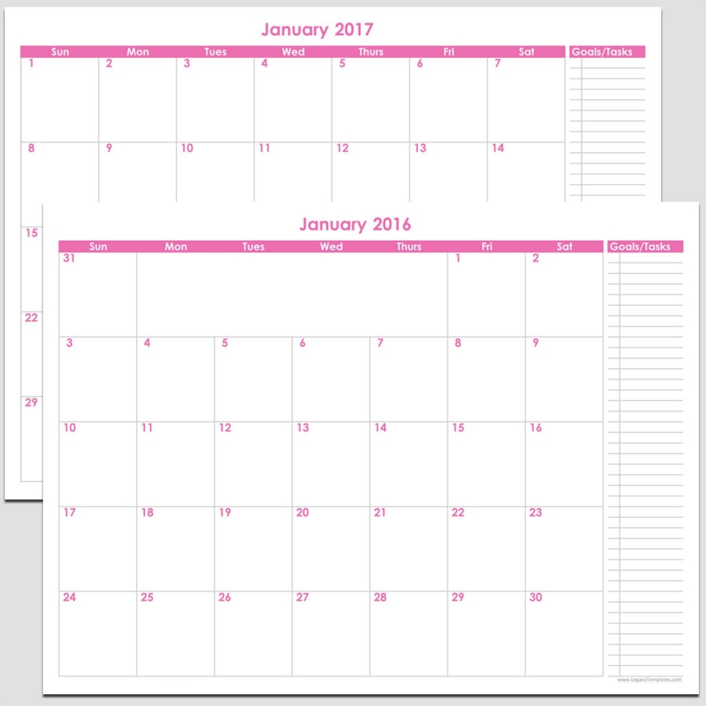 2016 2017 24 Month Calendar With Tasks 8 12 X 11 Legacy