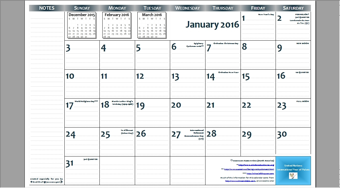 2016 Calendar 11 17 Printable Calendar Template 2017