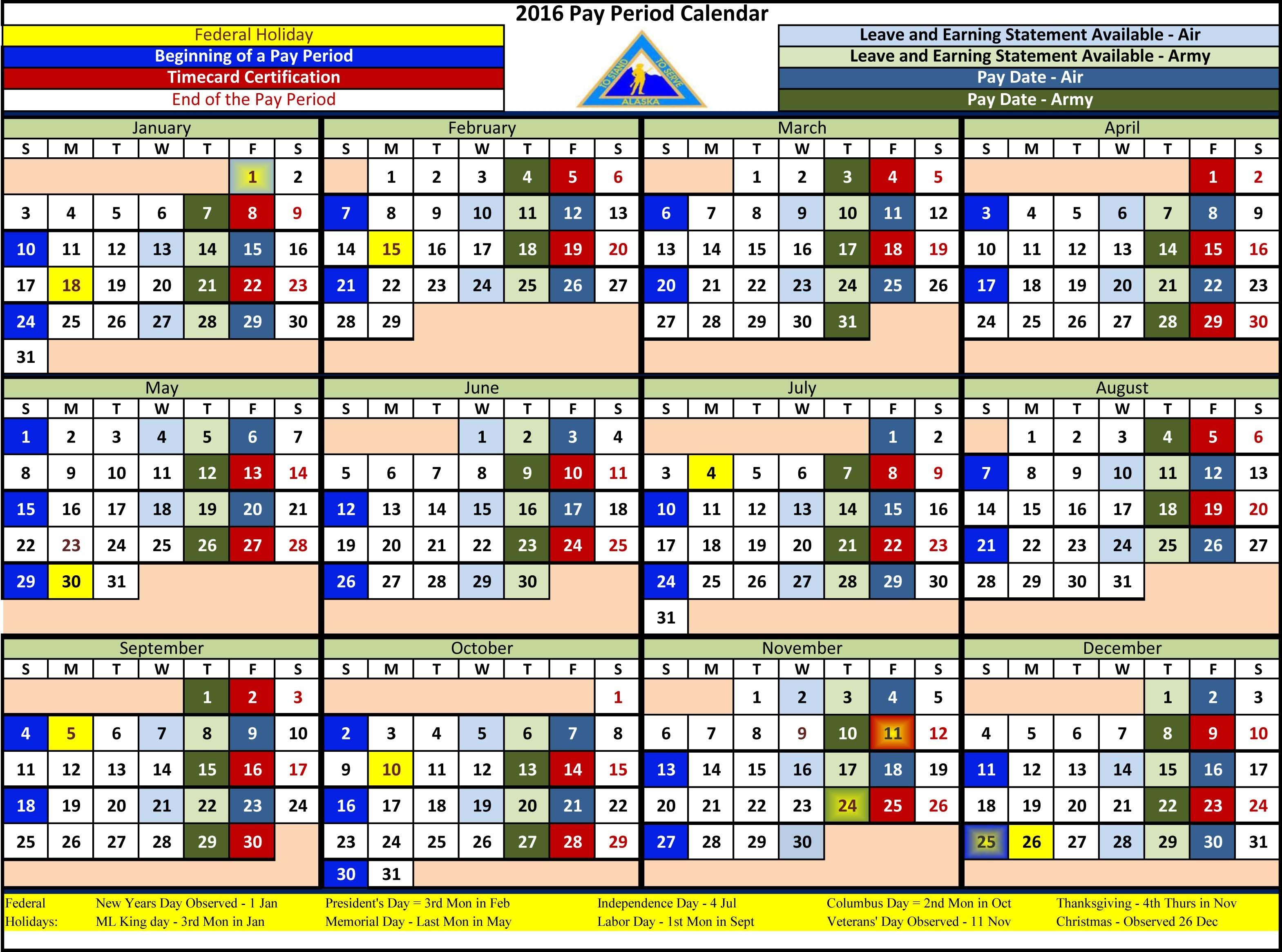 2016 Pay Period Calendar Federal Gov Calendar Template 20183abry