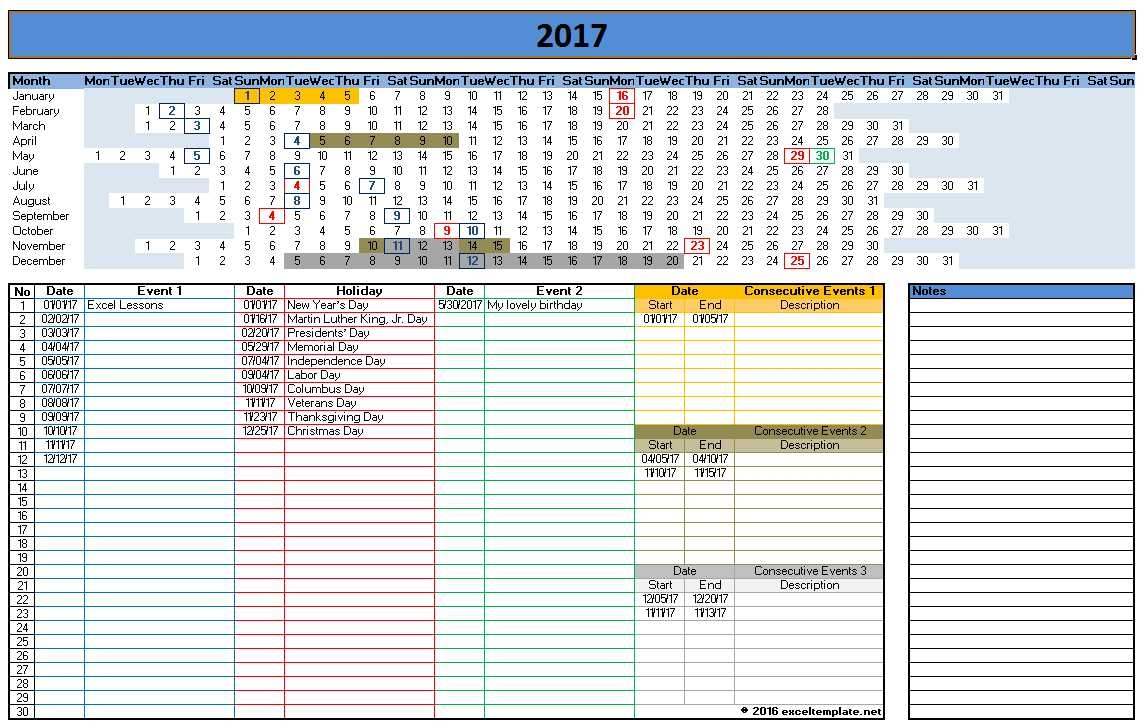 2017 Calendar Templates Microsoft And Open Office Templates3abry