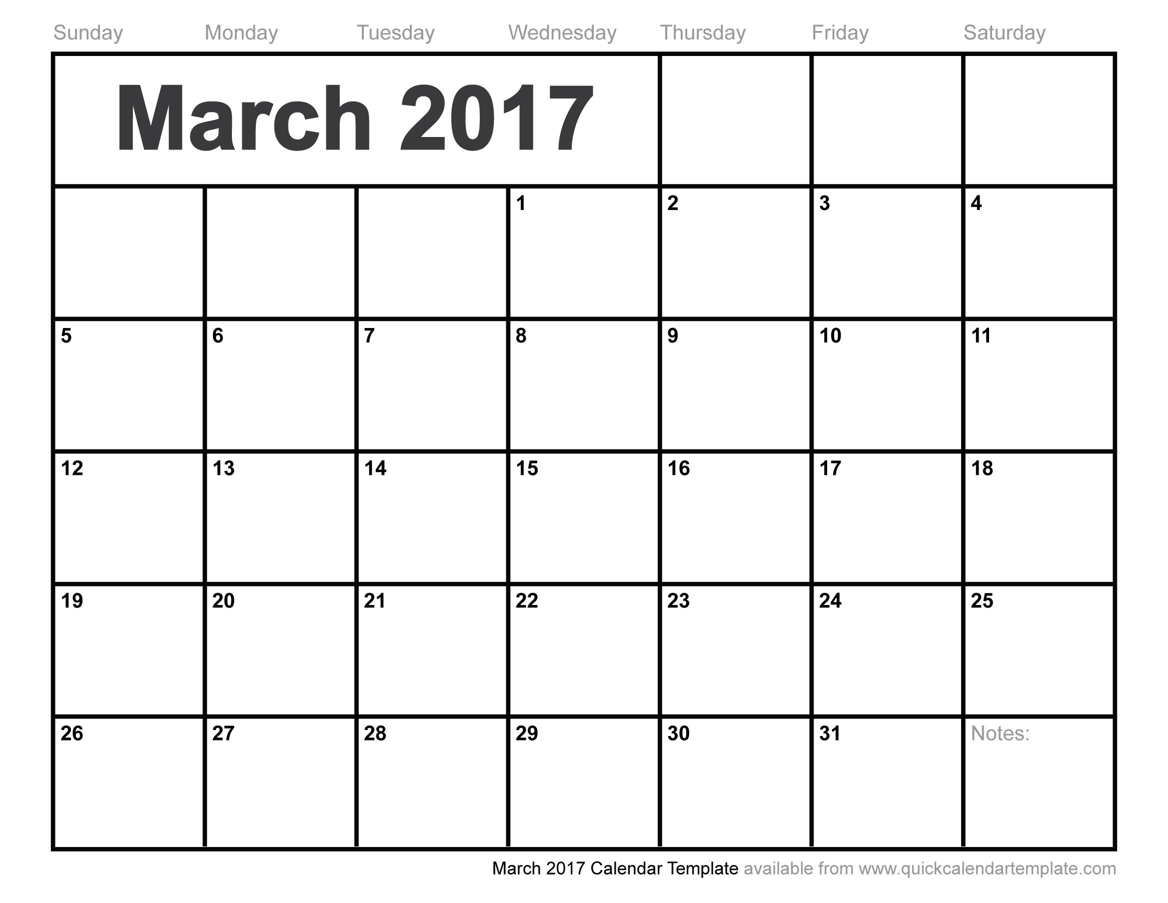 2017 March Calendar Commonpenceco 89uj