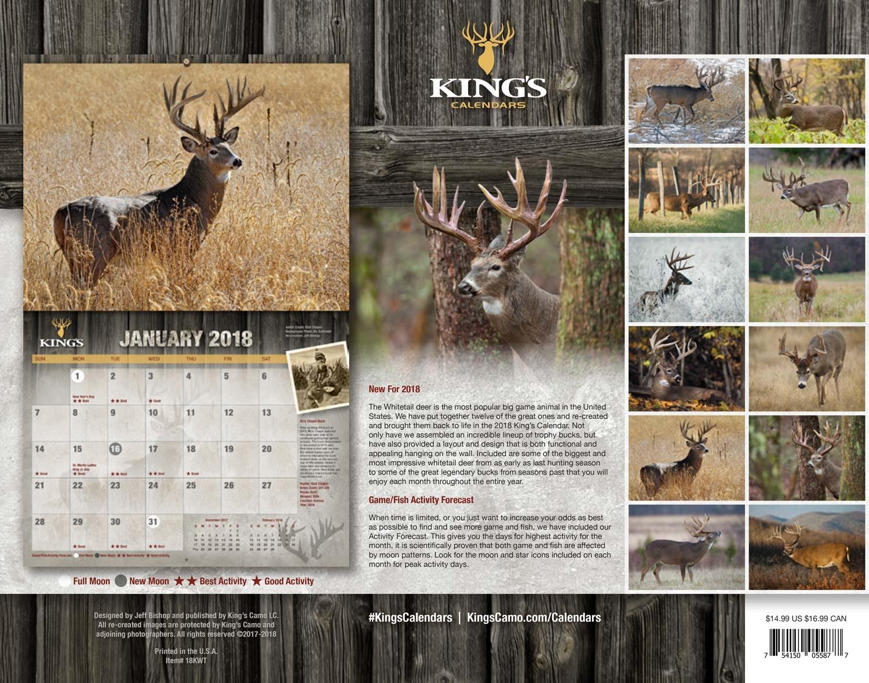 2018 Kings Whitetail Deer Calendar Trophy Bucks3abry