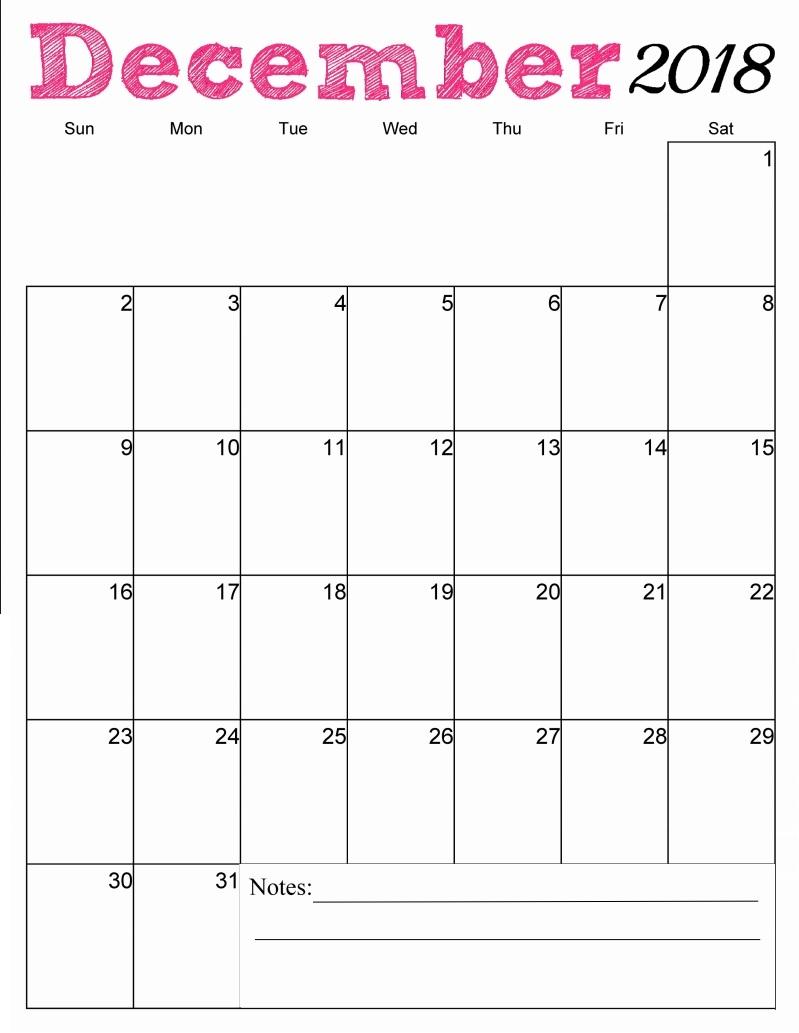 2018 Monthly Vertical Calendar Templates Max Calendars  Xjb