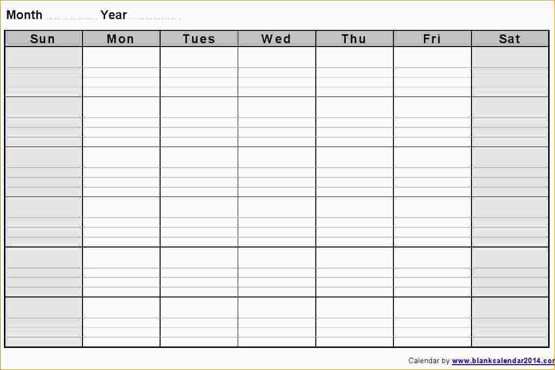 3 Blank Weekly Calendar Template Ganttchart Template3abry