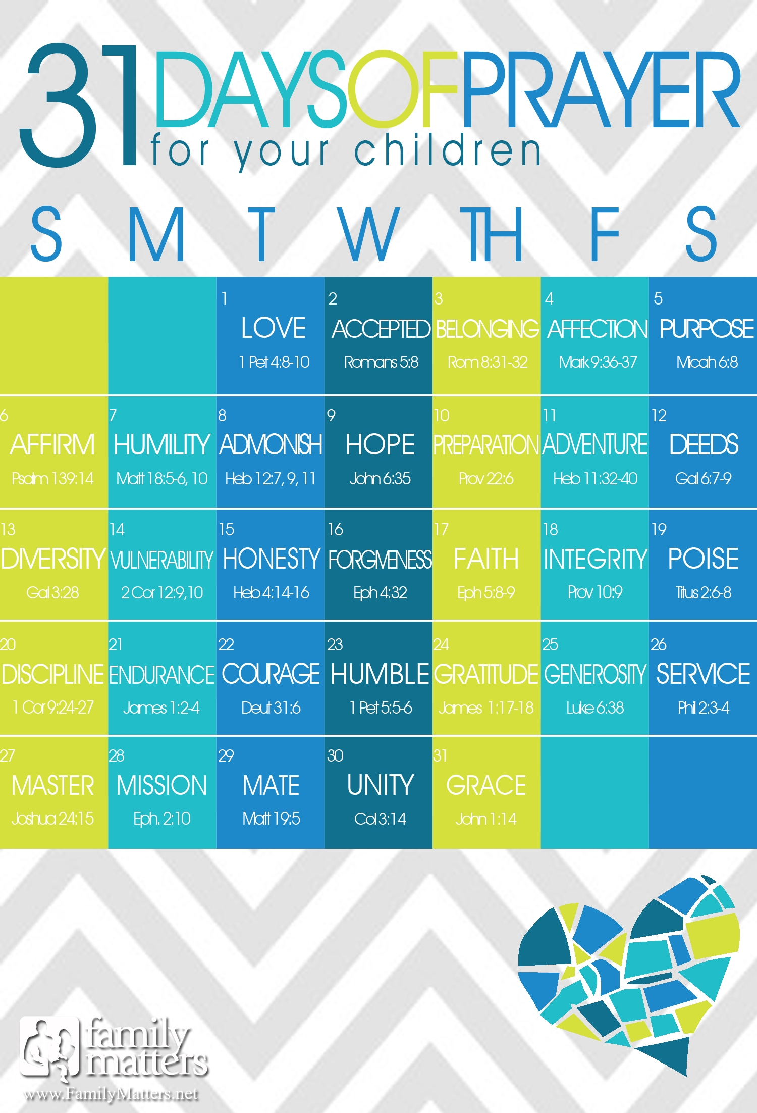 31 Days Of Praying For Our Kids 247 Moms3abry